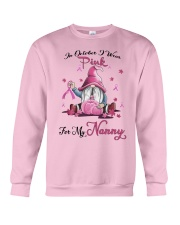 In October I Wear Pink For My Nanny Crewneck Sweatshirt thumbnail