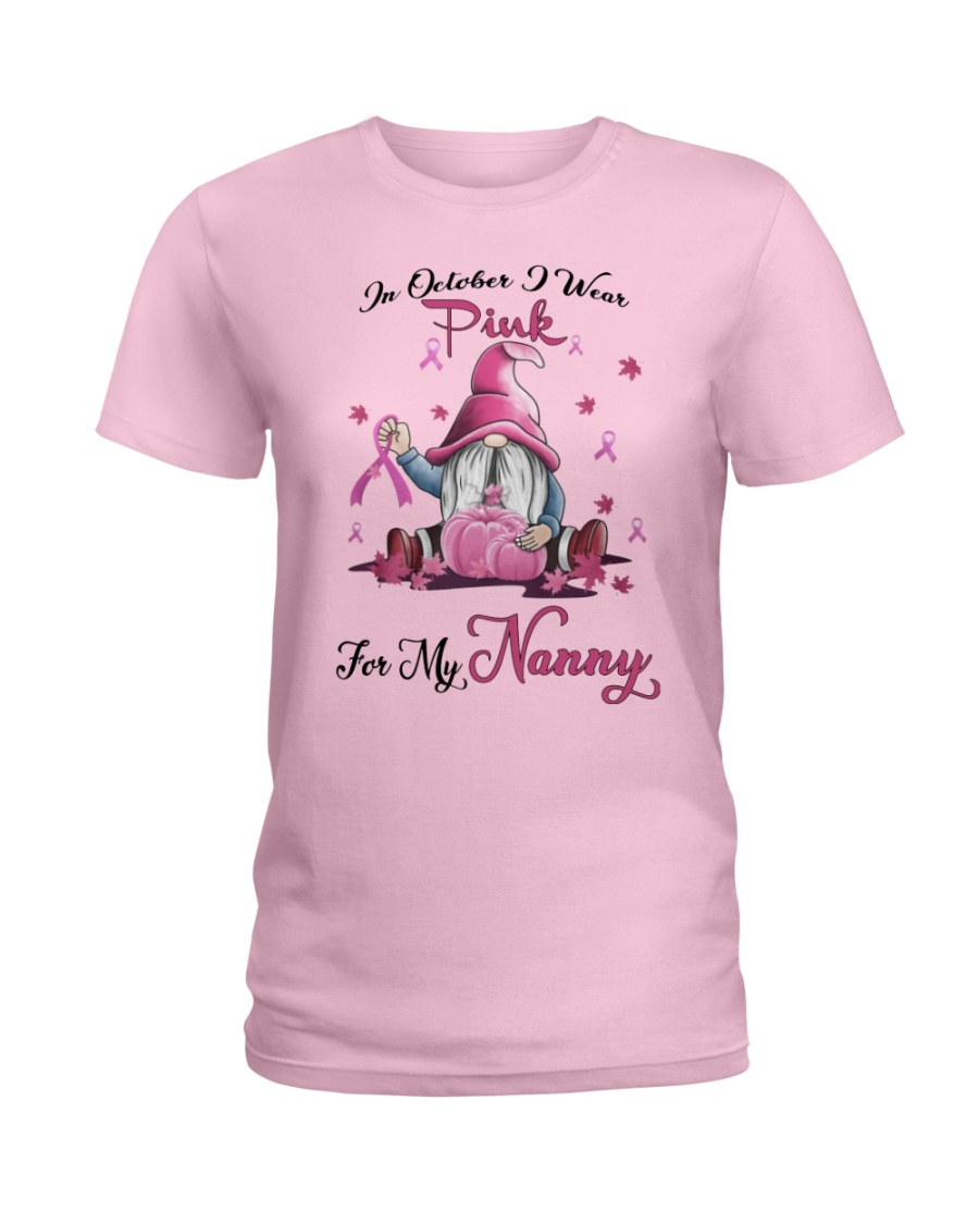 In October I Wear Pink For My Nanny Ladies T-Shirt
