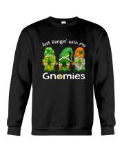 Just Hanging With My Gnomies Irish Green Shamrock  Crewneck Sweatshirt thumbnail