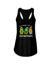 Just Hanging With My Gnomies Irish Green Shamrock  Ladies Flowy Tank thumbnail