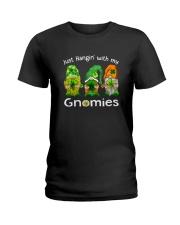 Just Hanging With My Gnomies Irish Green Shamrock  Ladies T-Shirt thumbnail