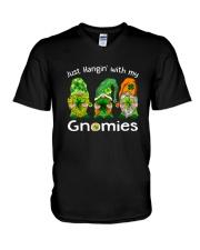 Just Hanging With My Gnomies Irish Green Shamrock  V-Neck T-Shirt thumbnail