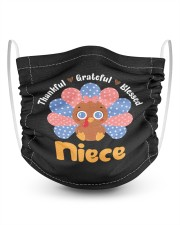 Thankful Grateful Blessed Niece Turkey  2 Layer Kids Face Mask - Single thumbnail