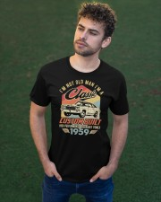 Classic Car - 61 Years Old Matching Birthday Tee  Classic T-Shirt apparel-classic-tshirt-lifestyle-front-43