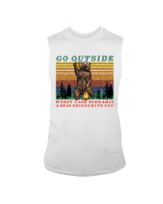 Go Outside A Bear Drinks With You Funny Beer Gift  Sleeveless Tee thumbnail