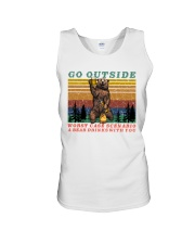 Go Outside A Bear Drinks With You Funny Beer Gift  Unisex Tank thumbnail