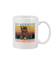 Go Outside A Bear Drinks With You Funny Beer Gift  Mug thumbnail