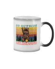 Go Outside A Bear Drinks With You Funny Beer Gift  Color Changing Mug thumbnail