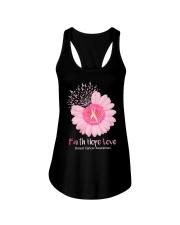 Faith Hope Love Breast Cancer Pink Daisy Flower Ladies Flowy Tank thumbnail