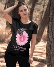 Faith Hope Love Breast Cancer Pink Daisy Flower Ladies T-Shirt apparel-ladies-t-shirt-lifestyle-06