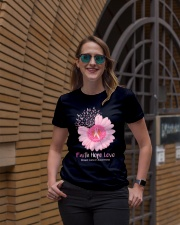 Faith Hope Love Breast Cancer Pink Daisy Flower Ladies T-Shirt lifestyle-women-crewneck-front-2