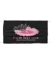 Faith Hope Love Breast Cancer Pink Daisy Flower Cloth face mask thumbnail