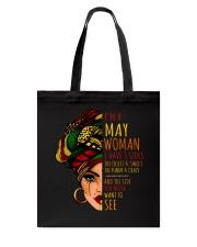 I'm A May Woman I Have 3 Sides Cute Birthday Gift Tote Bag thumbnail