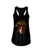I'm A May Woman I Have 3 Sides Cute Birthday Gift Ladies Flowy Tank front