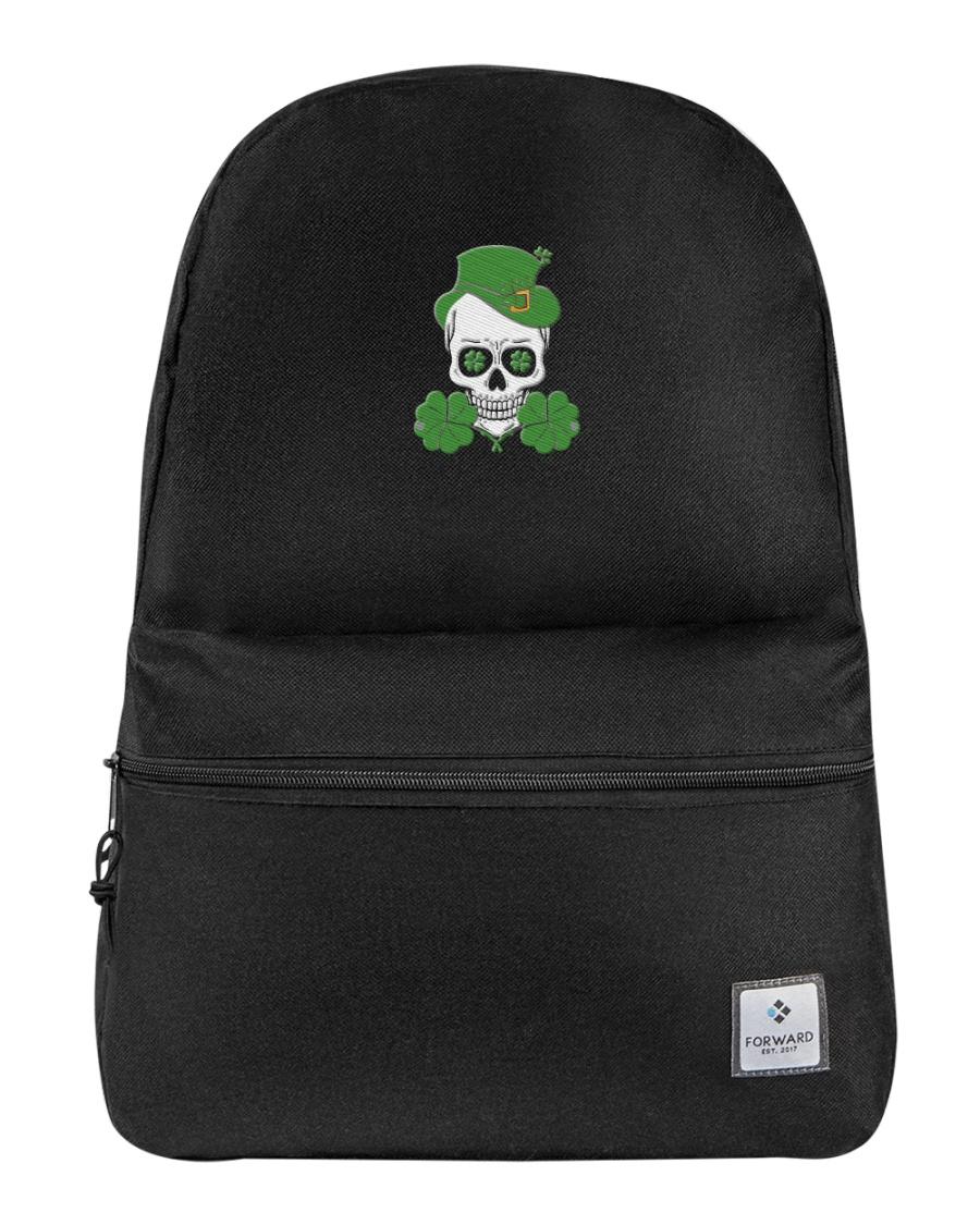 Funny Skeleton Skull Shamrock St Patrick's Day  Backpack