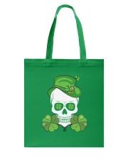 Funny Skeleton Skull Shamrock St Patrick's Day  Tote Bag thumbnail