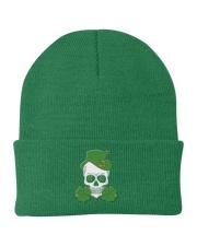 Funny Skeleton Skull Shamrock St Patrick's Day  Knit Beanie thumbnail