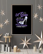A Queen Was Born In November Happy Birthday to Me  11x17 Poster lifestyle-holiday-poster-1