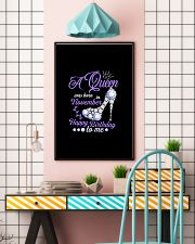 A Queen Was Born In November Happy Birthday to Me  11x17 Poster lifestyle-poster-6