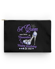 A Queen Was Born In November Happy Birthday to Me  Accessory Pouch - Standard thumbnail