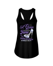 A Queen Was Born In June Happy Birthday to Me  Ladies Flowy Tank thumbnail