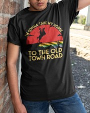 I am Gonna Take My Horse To The Old Town Road Classic T-Shirt apparel-classic-tshirt-lifestyle-27