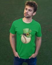 Baseball Leprechaun Irish Shamrock St Patrick's D Classic T-Shirt apparel-classic-tshirt-lifestyle-front-43
