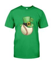 Baseball Leprechaun Irish Shamrock St Patrick's D Classic T-Shirt front