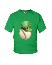 Baseball Leprechaun Irish Shamrock St Patrick's D Youth T-Shirt thumbnail