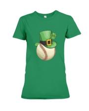 Baseball Leprechaun Irish Shamrock St Patrick's D Premium Fit Ladies Tee thumbnail