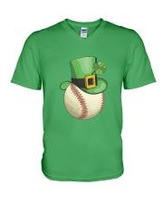 Baseball Leprechaun Irish Shamrock St Patrick's D V-Neck T-Shirt thumbnail