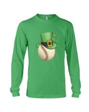 Baseball Leprechaun Irish Shamrock St Patrick's D Long Sleeve Tee thumbnail