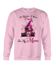 In October I Wear Pink For My Mom Gnome Breast  Crewneck Sweatshirt thumbnail