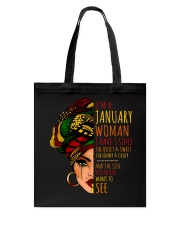 I'm A January Woman I Have 3 Sides Birthday Gift Tote Bag thumbnail