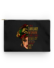 I'm A January Woman I Have 3 Sides Birthday Gift Accessory Pouch - Standard thumbnail