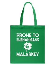 Vintage Prone To Shenanigans And Malarkey  Tote Bag thumbnail