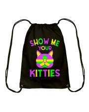 Vintage Show Me Your Kitties Cat Lover Accessories Drawstring Bag thumbnail