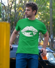 Kiss Me I'm Irish Lips Shamrock St Patrick's Day  Classic T-Shirt apparel-classic-tshirt-lifestyle-front-44