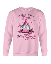 In October I Wear Pink For My Gigi Crewneck Sweatshirt thumbnail