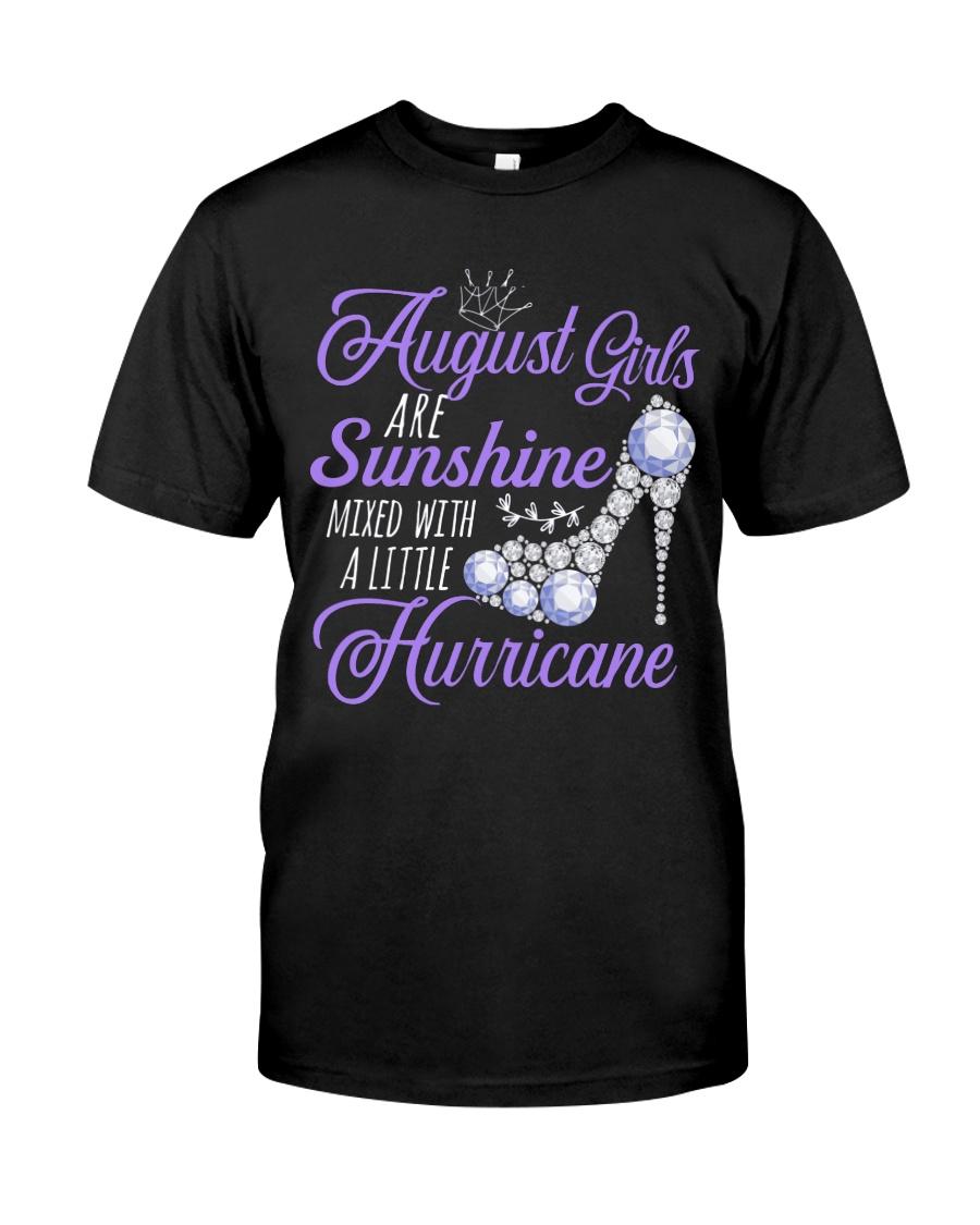 August Girls Are Sunshine Mixed With Hurricane Classic T-Shirt