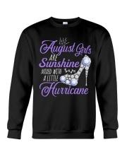 August Girls Are Sunshine Mixed With Hurricane Crewneck Sweatshirt thumbnail