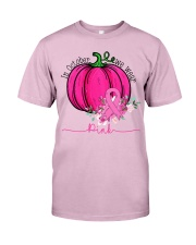 In October We Wear Pink Pumpkin Ribbon Breast Classic T-Shirt thumbnail