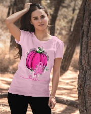 In October We Wear Pink Pumpkin Ribbon Breast Ladies T-Shirt apparel-ladies-t-shirt-lifestyle-06