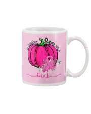 In October We Wear Pink Pumpkin Ribbon Breast Mug thumbnail
