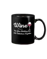 Wine The Glue Holding this 2020 Shitshow Together Mug thumbnail