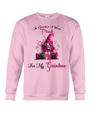 In October I Wear Pink For My Grandma Gnome  Crewneck Sweatshirt thumbnail