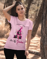 In October I Wear Pink For My Grandma Gnome  Ladies T-Shirt apparel-ladies-t-shirt-lifestyle-06