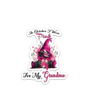 In October I Wear Pink For My Grandma Gnome  Sticker - Single (Vertical) thumbnail