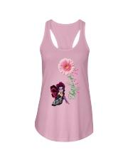 Fairy Fight Like A Girl Pink Daisy Flower Ribbon  Ladies Flowy Tank thumbnail