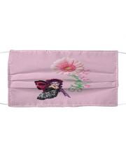 Fairy Fight Like A Girl Pink Daisy Flower Ribbon  Cloth face mask thumbnail